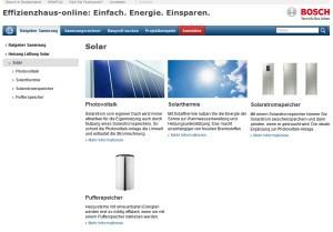 Effizienzhaus Online - Solarthermie